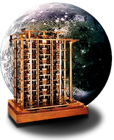 Steampunk Planetary Difference Engine Icon MkII by yereverluvinuncleber