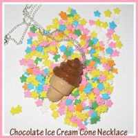 Chocolate Cone Necklace by softbluecries