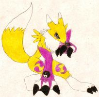Renamon 25 color by luvini
