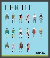 Naruto Shippuden Characters by crowecrowe