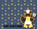 Chef Platypus Wallpaper by Riversology