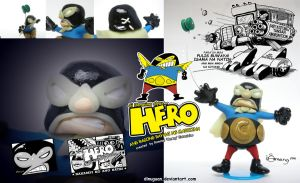 HERO COMICS poster ad by Dinuguan