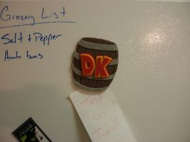 Video Game Magnet - Donkey Kong Barrel by merlinemrys