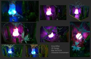 Kat's magical forest__Character environment for 3D by MoonLightRose17