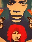jimi and jim on wall by Chasezephyr