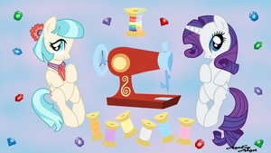 Rarity & Coco Wallpaper. by AgnessAngel