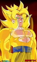 Hitozaru (SSJ 4) in SSJ Form by Brinx-dragonball