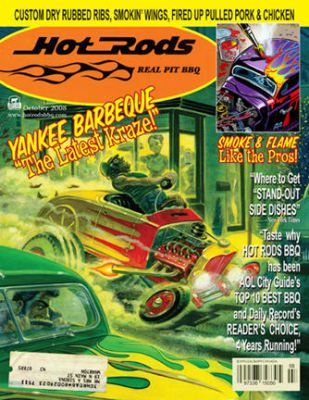 HOT RODS BBQ MENU COVER by Bob-C-Hardin