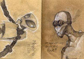Sketchbook page 26 and 27 by jwize