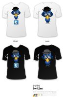 twitter t-shirt by AndexDesign