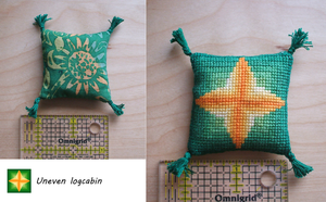 Mini Pillow: Uneven Logcabin by Magical525