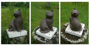 Cat Statue by Tupunoor