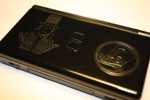 Engraved Professor Layton DS by Yuki-Myst