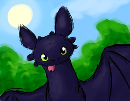 Toothless - How to train your dragon by N-suprem