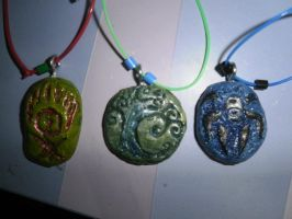 Magic Guilds of Ravnica Pendants by Braguitas