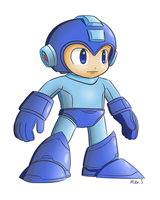 Smash Megaman by supereva01