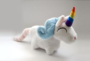 Rat Tailed Unicorn Plush by TentacleKitty