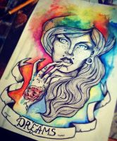 Colourful girl sketch by Alexandra-Mad