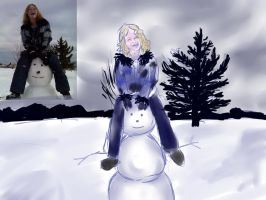 Snow Man for StoneoftheSea by WafflesIsLove