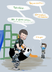 Riding a panda is manly as hell by TheLizAngel