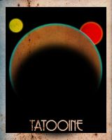 Tatooine Travel Poster by sixgun-fighter