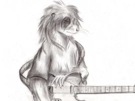 Otter and Telecaster by Master-Mofeto