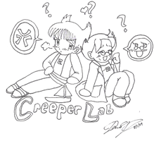 all aboard the CreeperLabShip? by Juuchan17