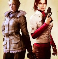 Sherry Birkin and Claire Redfield by WeskentineFTW