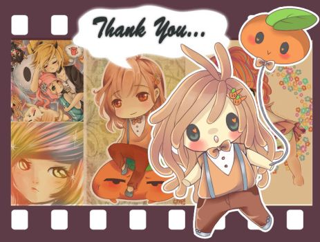 Thank you Card by Chipiy