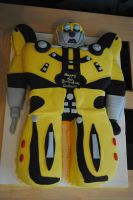 Bumble bee cake by starry-design-studio