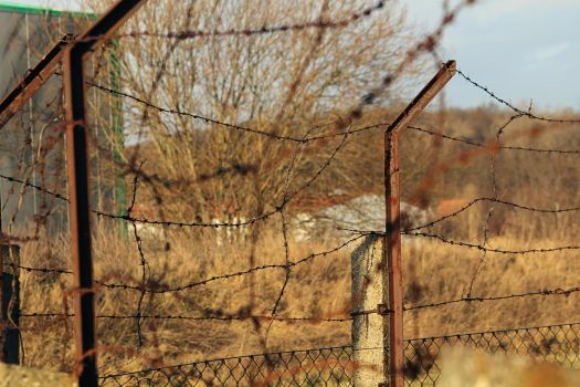 barbed wire fence by PT1602