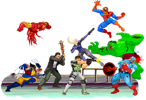 Marvel Zombies vs Capcom by Riklaionel