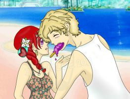The Lion and his Lamb .:beach fun:. by SailorSun18