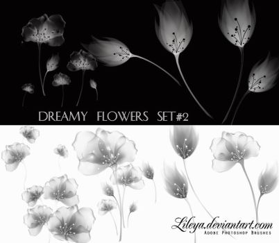 Dreamy Flowers set 2 by Lileya