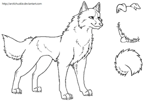 Free dog lineart by ArcticHuskie