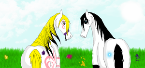 Breeding- Lotus and Ace by Horses-Echo