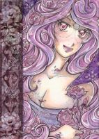 ACEO Velvet Rose by PaminaArtistry