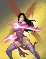 Commish: Psylocke by johnnyrocwell