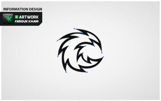 The illustration of the logo Click Down by FAROUK-KHANI