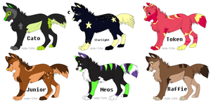 Selling Old Wolf OCs - Part 1 - CLOSED by chaosangel1111