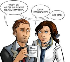 Bioshock Infinite: Father's Day (spoilers) by ladymadeofglass