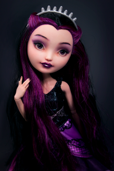Raven - Ever After High doll repaint by Szklanooka