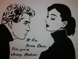 Painting If Im James Dean then by NamineEveningLight