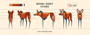 Model Sheet: Guara by CarolineRaquel