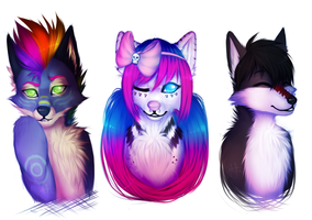 Headshot commishes by Atherra