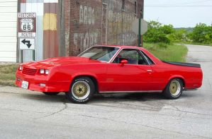 1980 El Camino on Route 66 by Ray-Therat