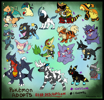 Pokemon Point adopts batch 5 :customs: by Boltonartist