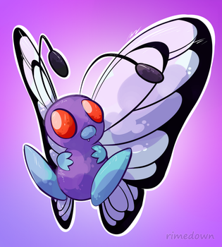 Butterfree - Day 1437 by Seracfrost