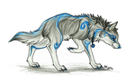 Blue Wolf Spirit by LukeWolf6