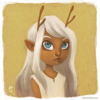 Deer Girl Portrait by AlyssaTallent